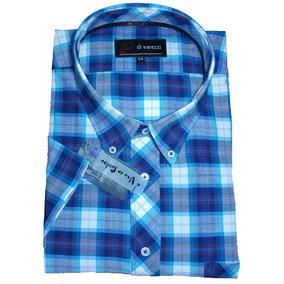 Camisa Manga Corta Especial Talle 54 Buena Confeccion Cuadro