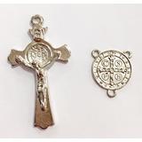 Peças Para Fazer Terços 24 Entremeios + 24 Crucifixos