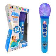 Micrófono Karaoke Infantil C/ Luces Sonidos Música Nene 2406