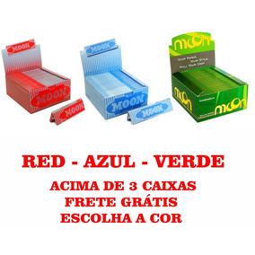 Seda Smoking Moon Verde - Red - Azul - Brasil Cx Com 50