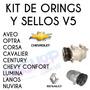 Kit De Orings Y Sello Compresor V5 Envio Gratis Por Mrw