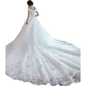Vl17 Vestido De Noiva Importado Lindo Renda Princesa