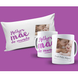 Caneca E Almofada Personalizada Dia Das Mães Com A Sua Foto