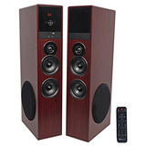 Rockville Tm80c Cherry Powered Home Theater Tower Altavoc...