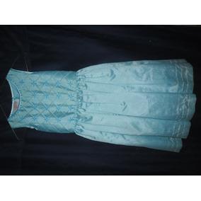 Vestido Azul Para Niña, Marca Yanina Talla 8
