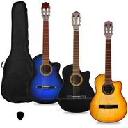 Guitarra Criolla Clasica Con Corte Superior Funda Pua Manual