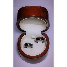 Argollas Oro Blanco 18k 14 Gramos 1 Diamante De 6 Puntos