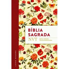 Bíblia Nvt Sagrada - Flores Letra Grande/flexível)
