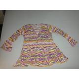 Camisa Tipo Bata Saída Praia Piscina Cia Marítima Usada R$40