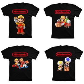 Camiseta Geek Algodão Game Super Mario Maker Nintendo Wii U