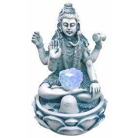 Fonte Shiva Cascata De Água Decorativa C/ Luz Em Resina