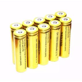 Kit 10 Bateria Recarregavel 18650 Li-ion Gold 8800mah 3.7v