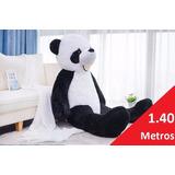 Oso Panda Jumbo Peluche Gigante 1.40 Mts Alto + Dije Regalo
