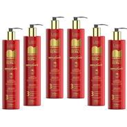 Creme De Pentear E Protetor Térmico Lissé 300ml Kit C/ 6 Uns