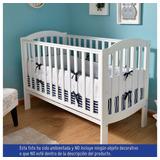 Protector Cuna Blanco + Sabana Ajustable Azul Suave Bebe
