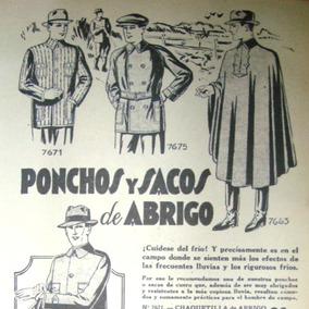 Ponchos Breeches Ropa Antigua Campo Overalls Moda Retro Saco