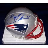 Mini Casco Autografiado Julian Edelman New England Patriots