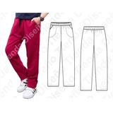 Molde Patron Imprimible Pantalon Jogging Niños Talles 6 A 14