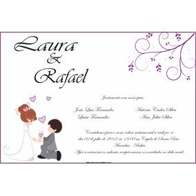 Convite Casamento (digital) Ou (em Papel)