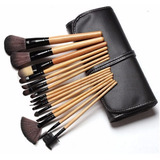 Set Profesional Maquillaje 15 Brochas Pinceles Y Brochero