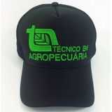 Boné Técnico Agropecuária De Tela Country Aba Curva Trucker
