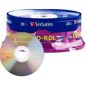 Torre De 20 Dvd Doble Capa Verbatim 8.5gb Xbox 360 Rgh
