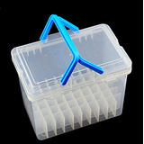 Chris.w Clear 60 Slot Plastic Carrying Marker