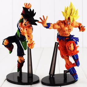 Kit 2 Figure Action Bonecos Goku + Bardock Dragon Ball Z