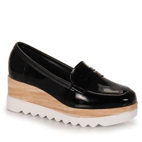 Sapato Mocassim Feminino Moleca - Preto