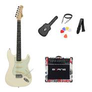 Kit Guitarra Tagima Woodstock Tg500 Ow Strato  G30 London