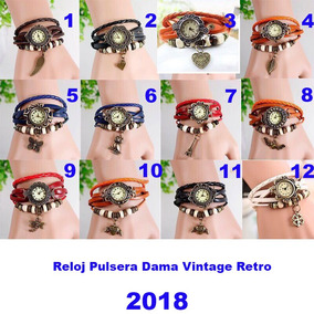 Reloj Vintage Retro De Moda Sams Baratos Piel Mujer 2018