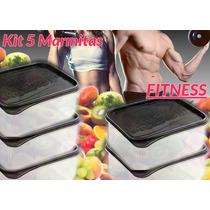 Kit 5 Marmitas Fitness 1000ml - Plasvale Biovita