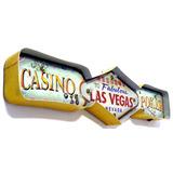 Luminoso Metalico Vintage Las Vegas Mod Fyy-113