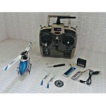Helicóptero V977 X2 6ch 3d Brushless + Bateria Extra 520 Mah