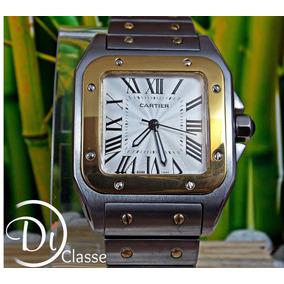 Reloj C. Santos 100 Grande Acero Y Oro Amarillo