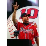 Mls Atlanta Braves Chipper Jones #10 En Rojo