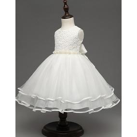 Vestido Festa Branco Off Menina Daminha Primeira Comunhão