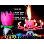 Velas Flor Magica Rotatoria Musical Cumpleaños Aniversarios
