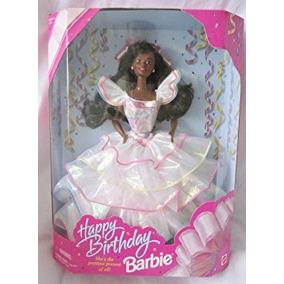 Juguete Barbie Feliz Cumpleaños De La Muñeca Africana Ameri