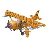 Brinquedo P Montar Avião Exercito 105 Peças Click It