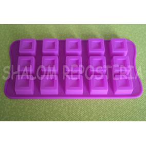 * Molde Silicon Cubos Relieve Gomita Jabon Fondant Chocolate