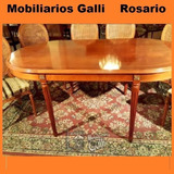 Mobiliarios Galli Mesa Oval Fija Francés Luis Xvi C/cristal