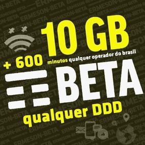 Plano Pré-pago Tim-beta 10gb+600min Envio Via Face Lab