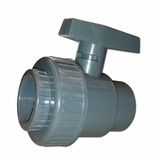 Válvula Valflux Roscada Con Unión Doble Pvc Plastico 1 ¼´´
