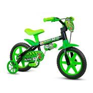Bicicleta Bicicletinha Infantil Aro 12 Menino Black Nathor