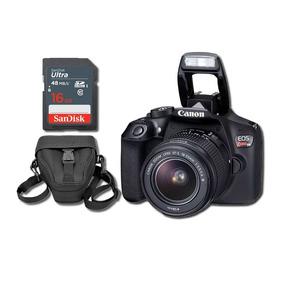 Eos Rebel T6 Kit Ef-s 18-55mm + Sd 16gb Ultra + Case + Nfe