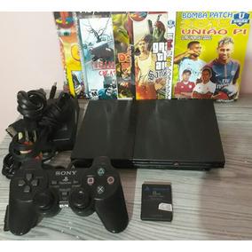 Playstation 2 Slim Semi Novo Desbloqueado Para Ps2 Ps1 Dvd