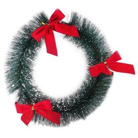 Conjunto Com 20 Guirlandas De Natal Laços Enfeites Natalinos
