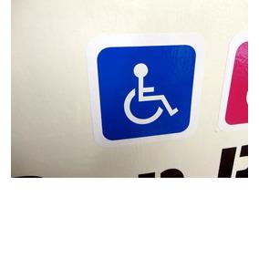 2 Stickers Discapacidad / Discapacitado / Automovil (15x15)*