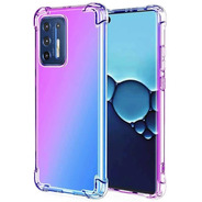 Funda Transparente Purple/ Blue Moto G9 Plus